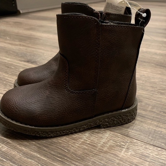 NWT Baby Gap Metallic Lace-Up Booties Size 8